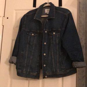 LIKE NEW dark wash denim jacket! (Worn ONCE)
